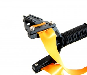 Fiber Optic Slingshot Sight with Picatinny Rail shown mounted