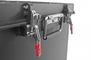 Montie Gear EMP Resistant Box / Faraday Cage - clamping mechanism with positive stop for long gasket life